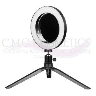 "ACTIV LAMPA LED MINI RING LIGHT 6"" Z LUSTERKIEM I STOJAKIEM NA TELEFON"