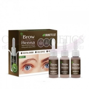 Henna do brwi ZESTAW 3 BROWN BH Brow Henna