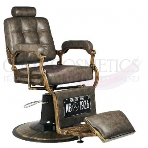 ACTIV GABBIANO FOTEL BARBERSKI BOSS OLD LEATHER CIEMNY BRĄZ